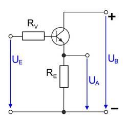 Kollektorschaltung eines Transistors