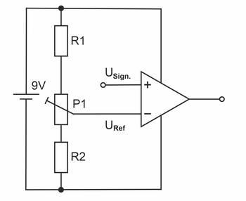 Komparator-Eingangsbeschaltung