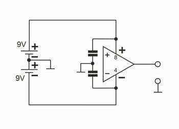 Komparator-Stromversorgung