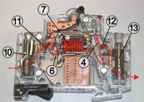 Layout of the circuit breaker