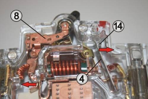 Thermische Auslösung eines LS-Schalters