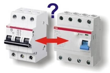 LS-Schalter vs. Fehlerstromschalter