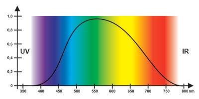 Lichtempfindlichkeitskurve