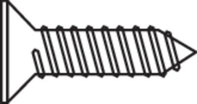 blechschrauben 2 9 mm 6 5 mm t profil din 7982 stahl verzinkt 100 st 839565. Black Bedroom Furniture Sets. Home Design Ideas