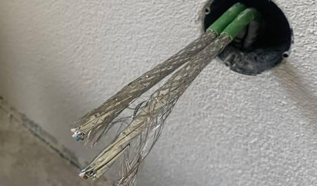 Netzwerkdosen-Anschluss