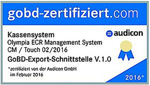 Olympia CM 941F Registrierkasse Hellgrau Optionaler Akkubetrieb, über PC programmierbar