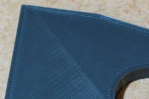 Oberfläche eines 3D-Druckteiles