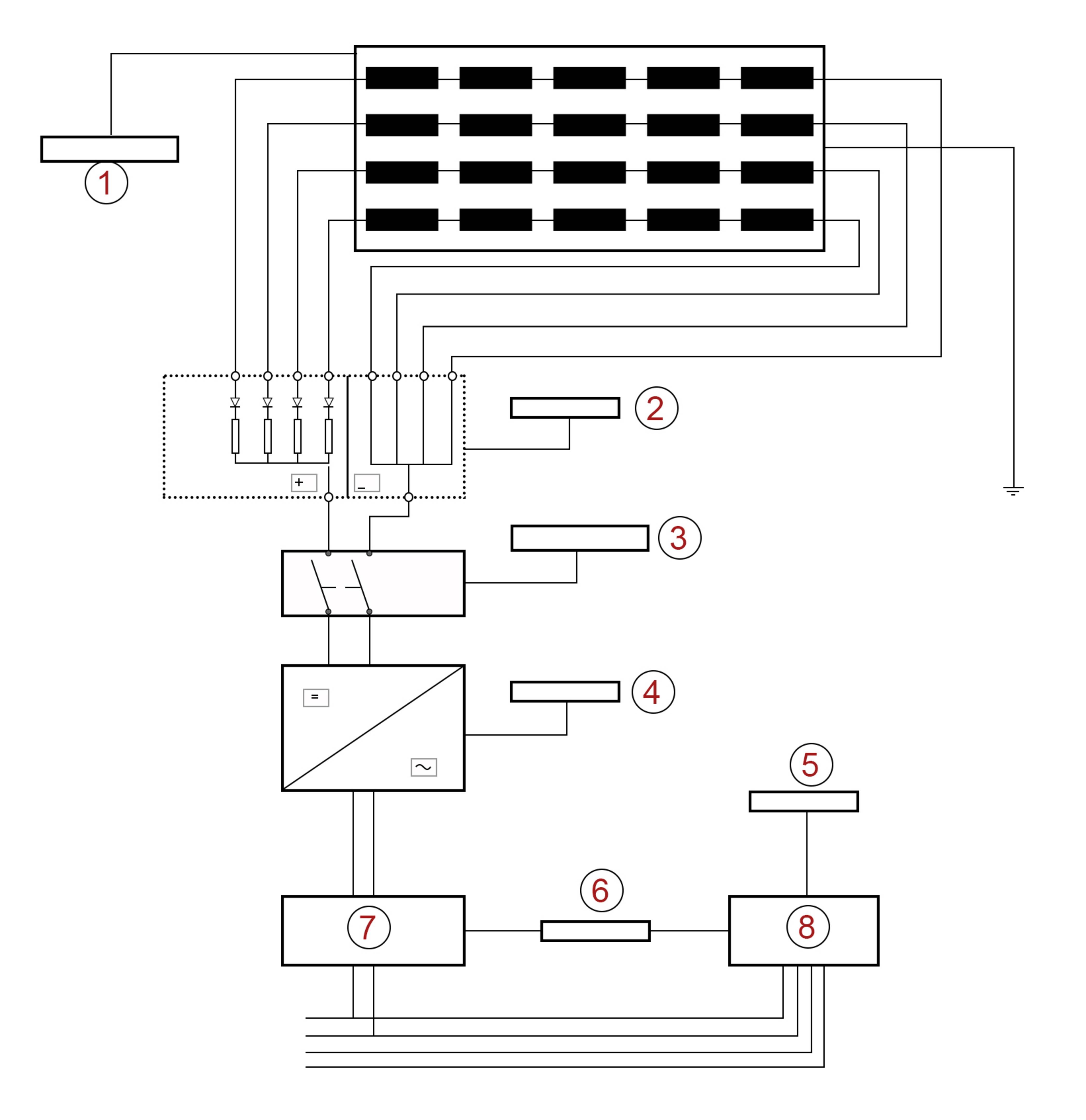 Schaltplan der Photovoltaikanlage
