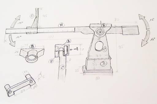 Skizze einer Schwerpunktwaage