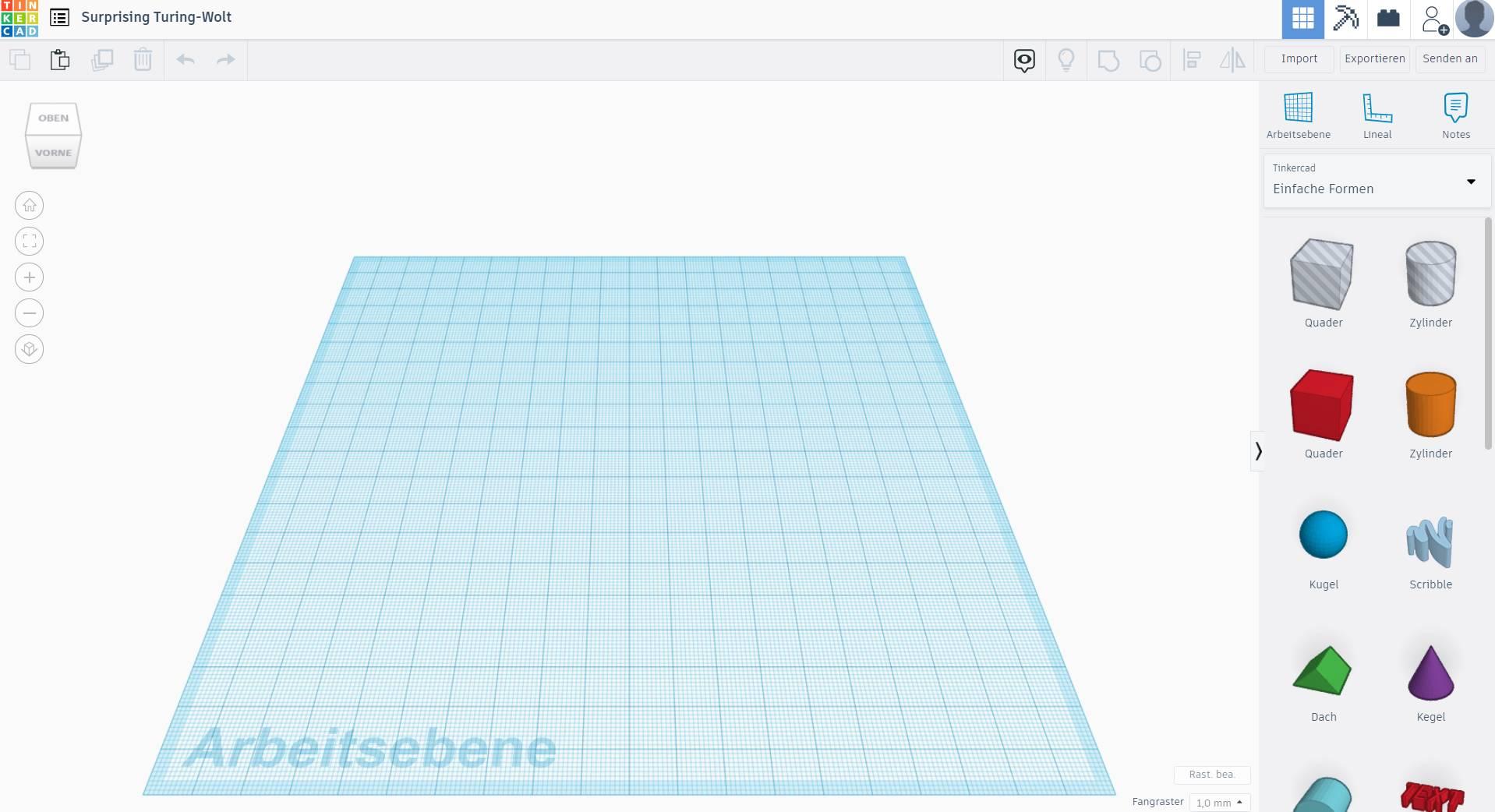 CAD-Programm Tinkercad