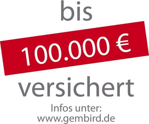 Gembird EG-PMS2-LAN Programmierbare Überspannungsschutz-Steckdosenleiste 6fach Schwarz Schutzkontakt