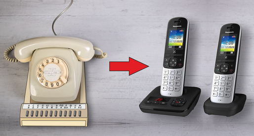 Aus dem Wählscheibentelefon wurde ein Schnurlostelefon mit DECT