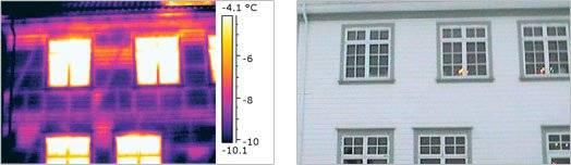 Wärmebildkamera - Untersuchung der Wärmedämmung von Fachwerkkkonstruktion