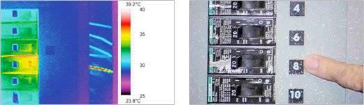 Wärmebildkamera - Untersuchung der Sicherungen