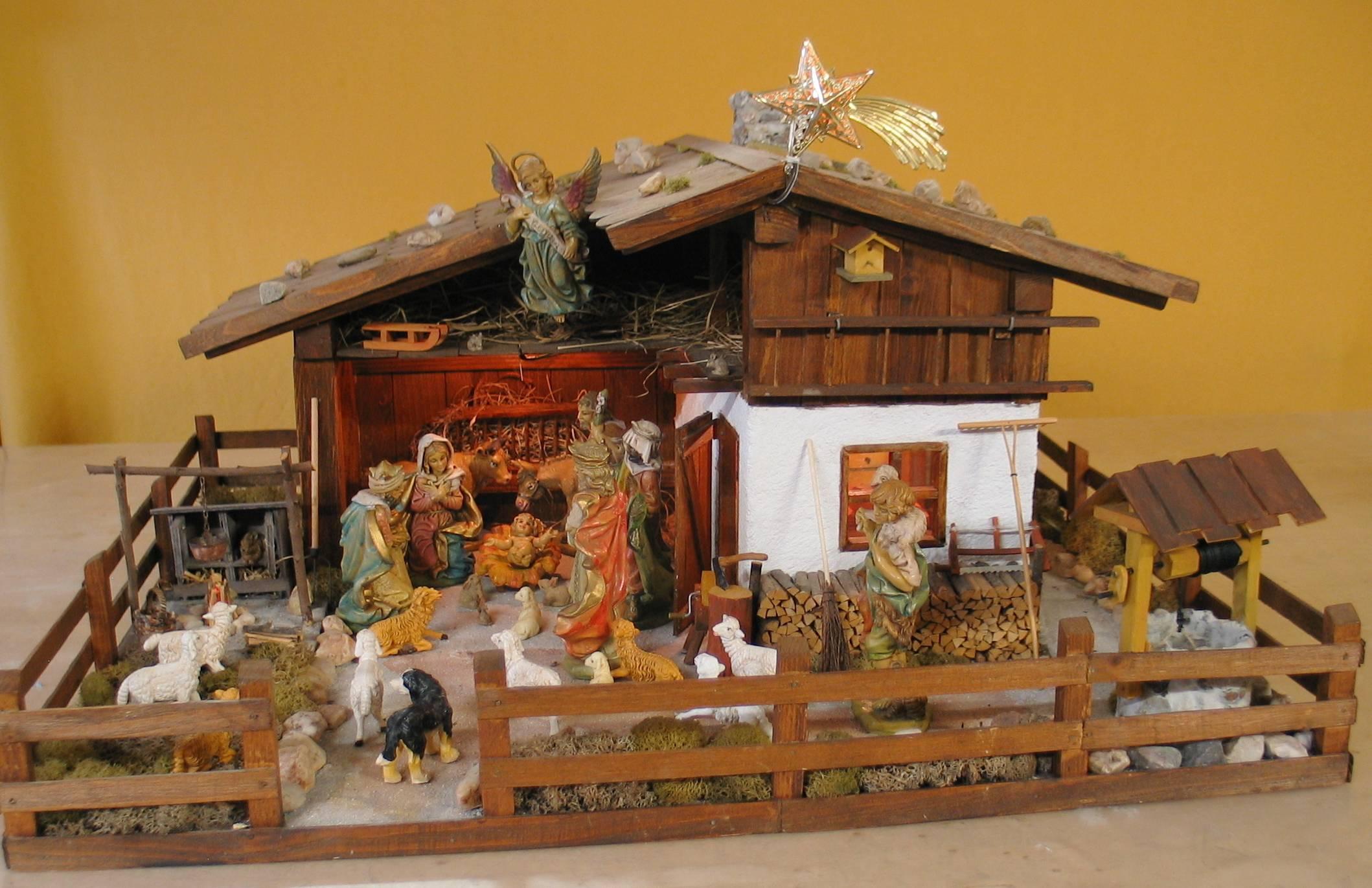 Realistische kerststal