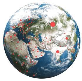 Corona ist weltweit verbreitet