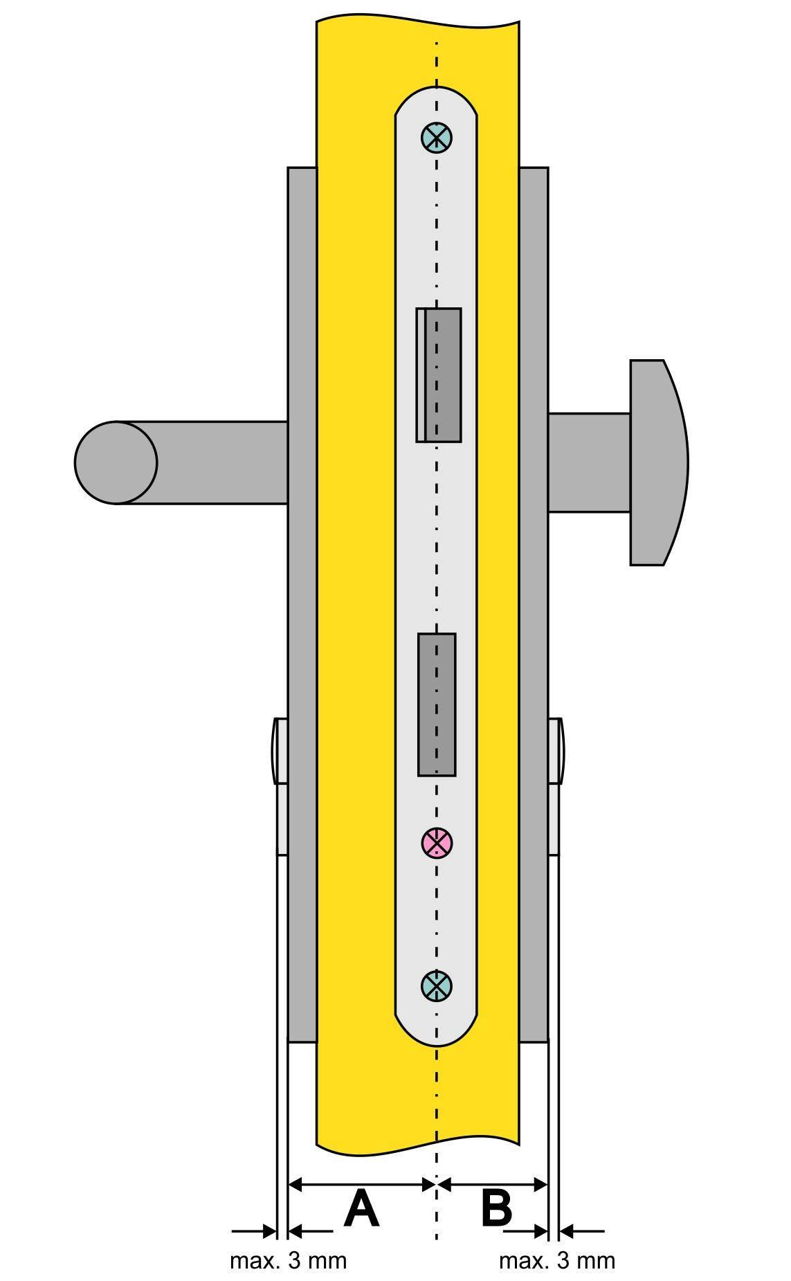 Zylinderschloss messen