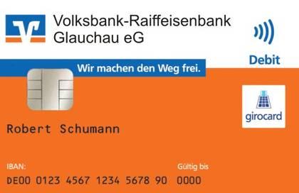 Bankkarte mit NFC