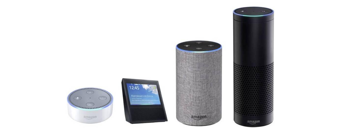 Die verschiedenen Varianten des Amazon Echo
