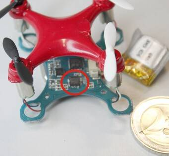 Micro-Quadrocopter mit MEMS-Sensoren