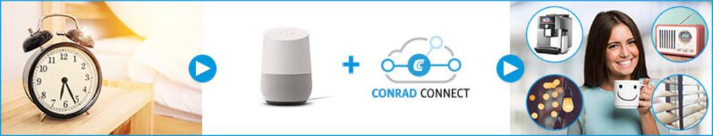 Conrad Connect mit Google Home verbinden