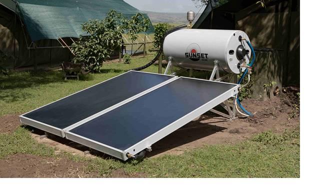 Brauchwassererwärmung und Heizungsunterstützung mit Solarthermie