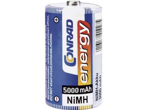 Oplaadbare D batterij (mono) Conrad energy HR20 NiMH 5000 mAh 1.2 V 2 stuks