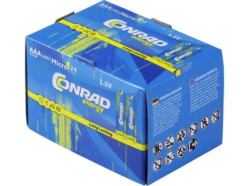 Conrad energy LR03 AAA batterij (potlood) Alkaline 1.5 V 24 stuk(s)