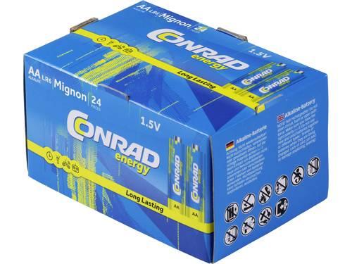 Conrad energy LR06 AA batterij (penlite) Alkaline 1.5 V 24 stuk(s)