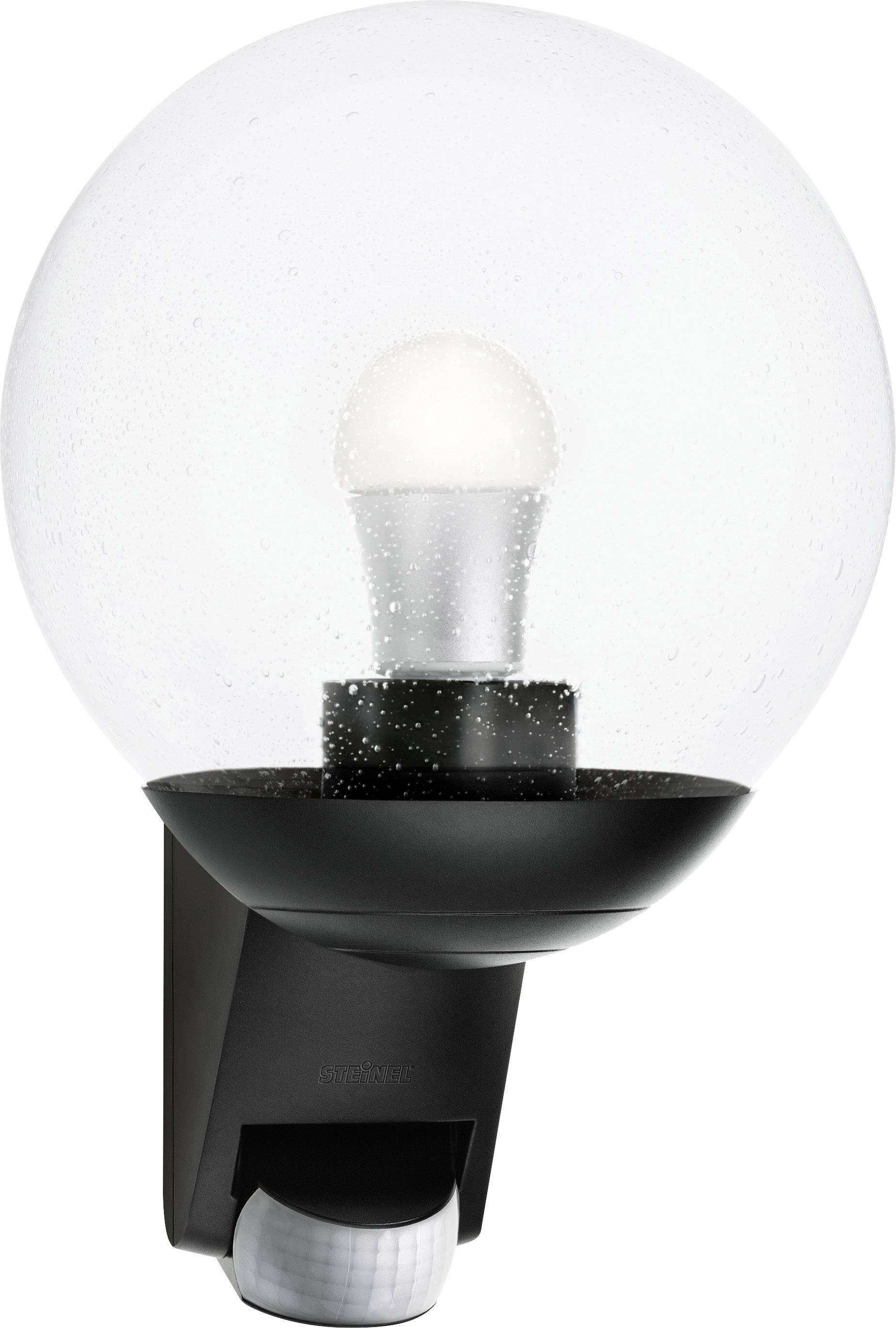 Steinel L585 05535 Outdoor Wall Light Motion Detector Energy Saving Bulb Led Monochrome E 27 60 W Black Conrad Com