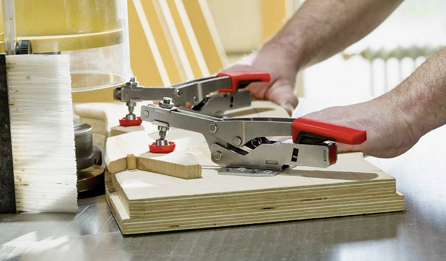 Bessey Toggle Clamp 60mm Horizontal With Open Arm Horizontal Base Plate STC-HH70