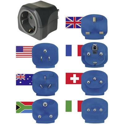 Image of Brennenstuhl 1508160 Travel adapter 7-piece set