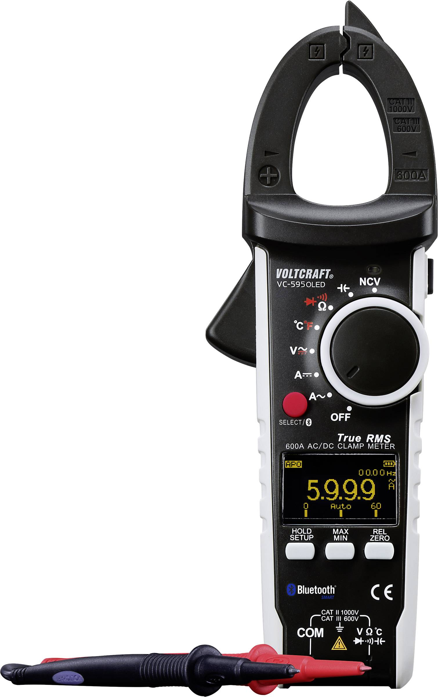 Handheld AC Current Clamp Probe with Multimeter 600A for AC Current Measurements