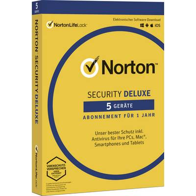 Image of Norton Life Lock Norton™ Security Deluxe 3.0 Full version, 5 licences Windows, Mac OS, iOS, Android Security