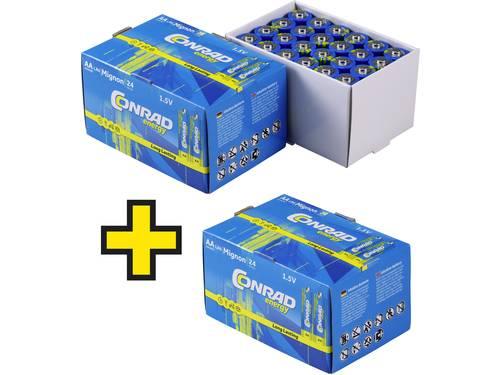 Conrad energy AA batterij (penlite) Alkaline 1.5 V 72 stuk(s)