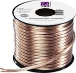 Speaker cable 2 x 1.50 mm² Transparent Conrad Components 607168 30 m