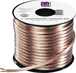 Speaker cable 2 x 2.50 mm² Transparent Conrad Components 607012 20 m