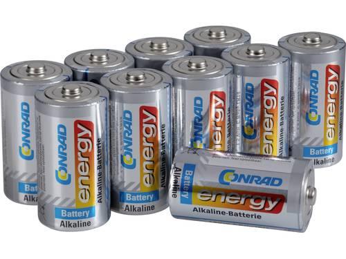 C batterij (baby) Conrad energy Alkaline 1.5 V 7500 mAh 10 stuks