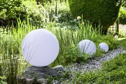 show original title Details about  /Globe Ball Sphere Lampholder Light Transparent outside garden light ø30c