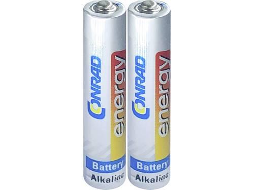 Conrad energy LR8 AAAA batterij (mini) AAAA (mini) Alkaline 1.5 V 500 mAh 2 stuks