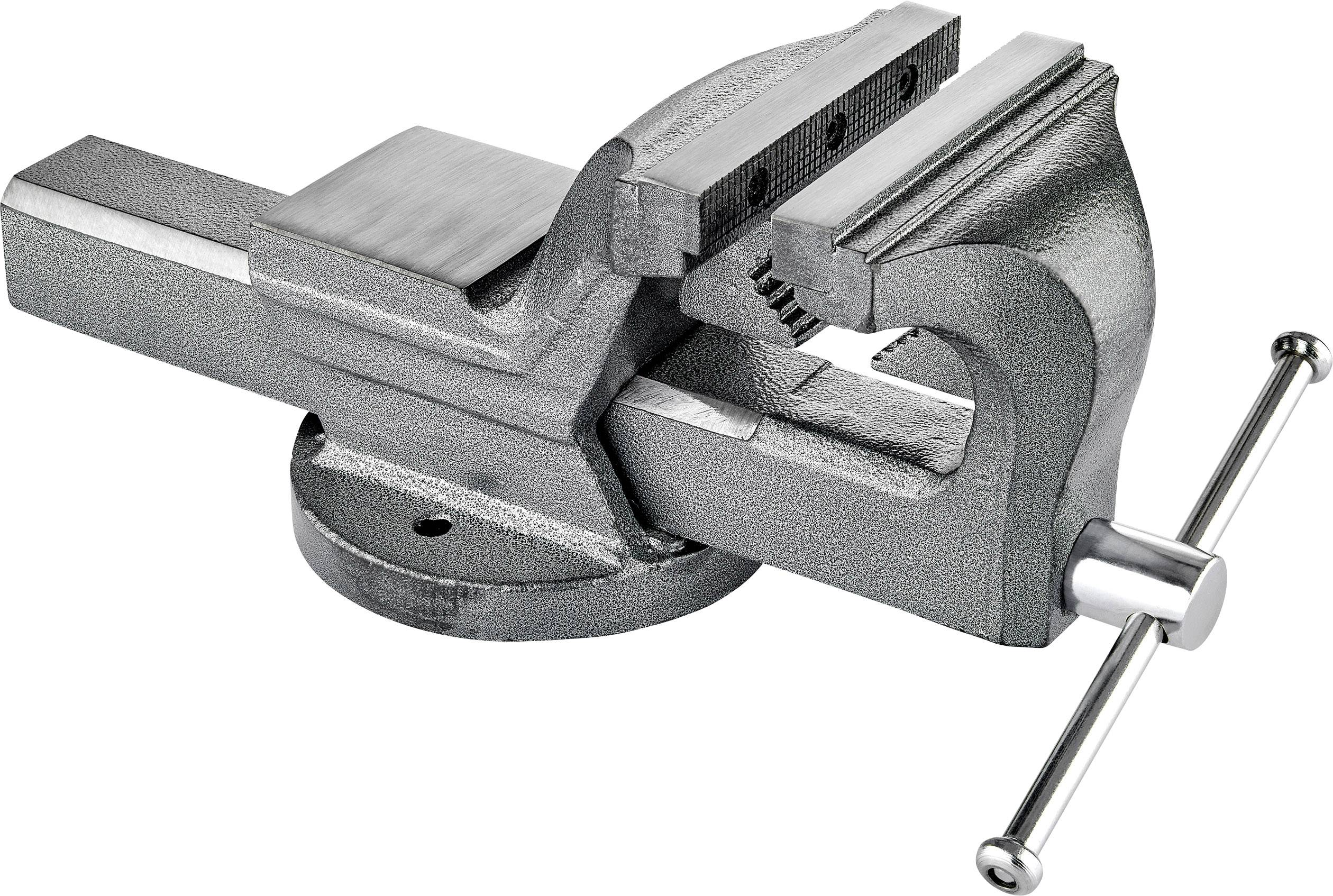 150 mm Opening Toolcraft Vise Screw Becchi//Jaw Width 125 MM max.