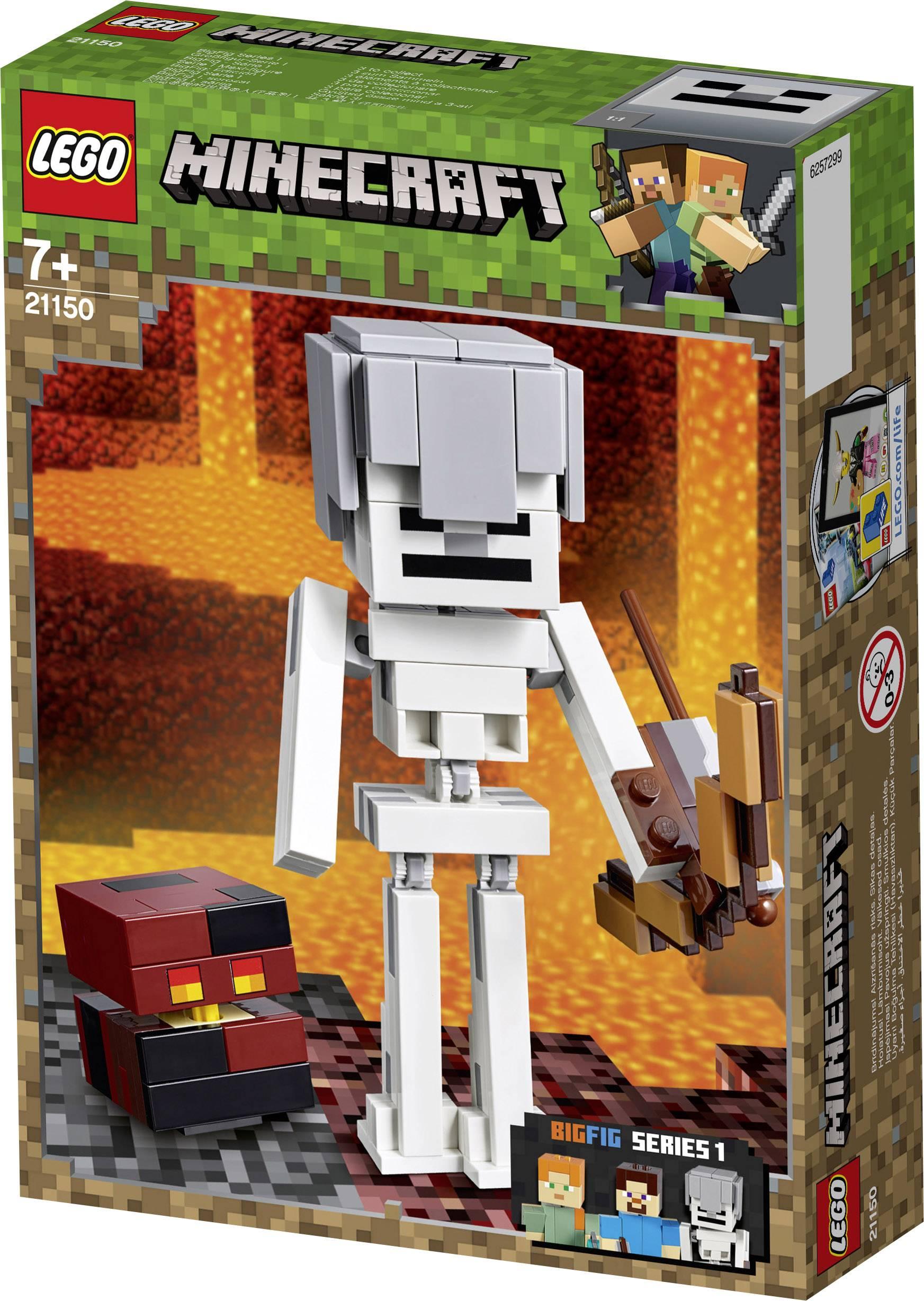 LEGO ® Minecraft ™ 21150 Minecraft ™ bigfig squelette avec Magma Cube