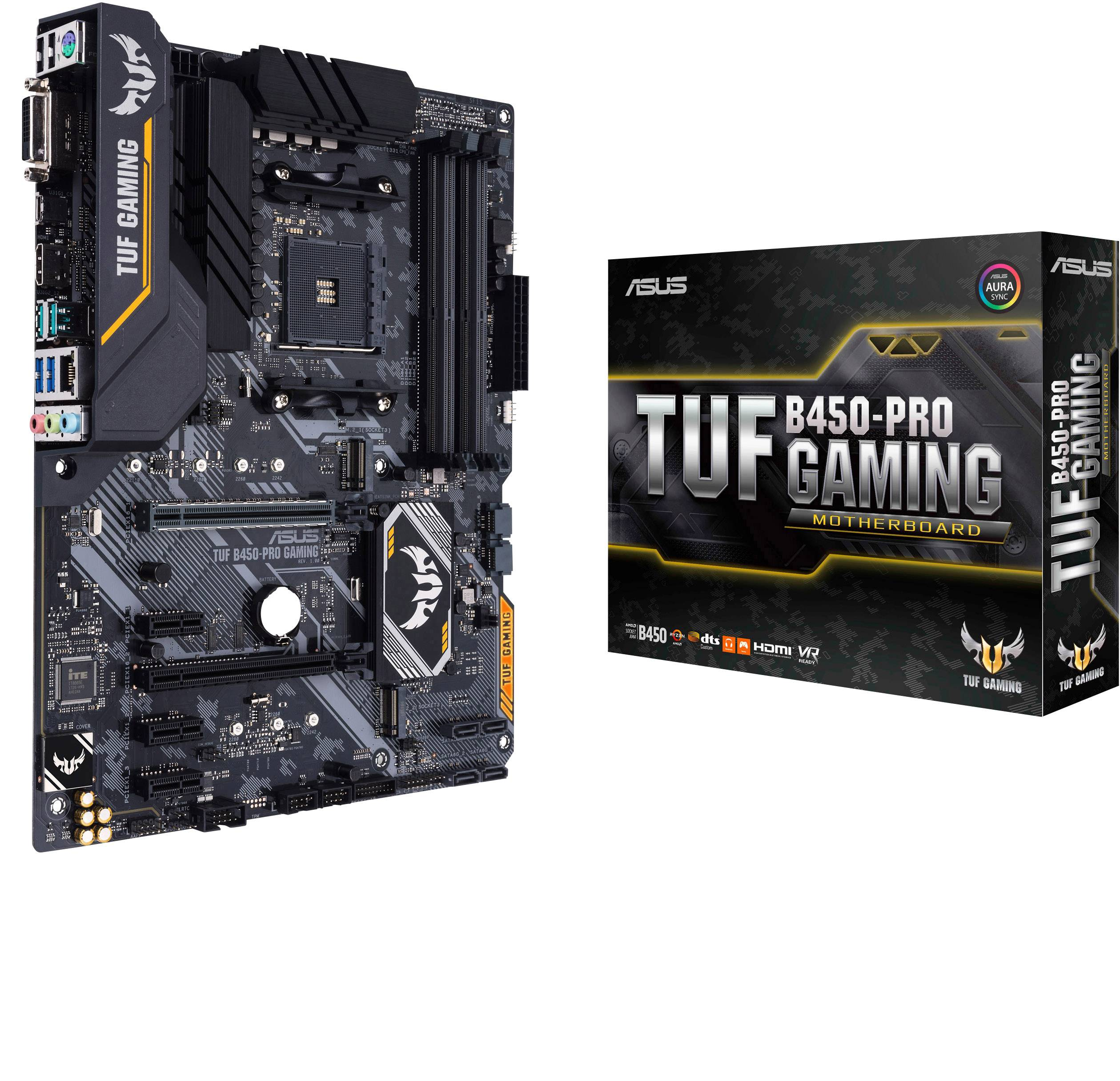 Asus TUF B450-Pro Gaming Motherboard PC base AMD AM4 Form