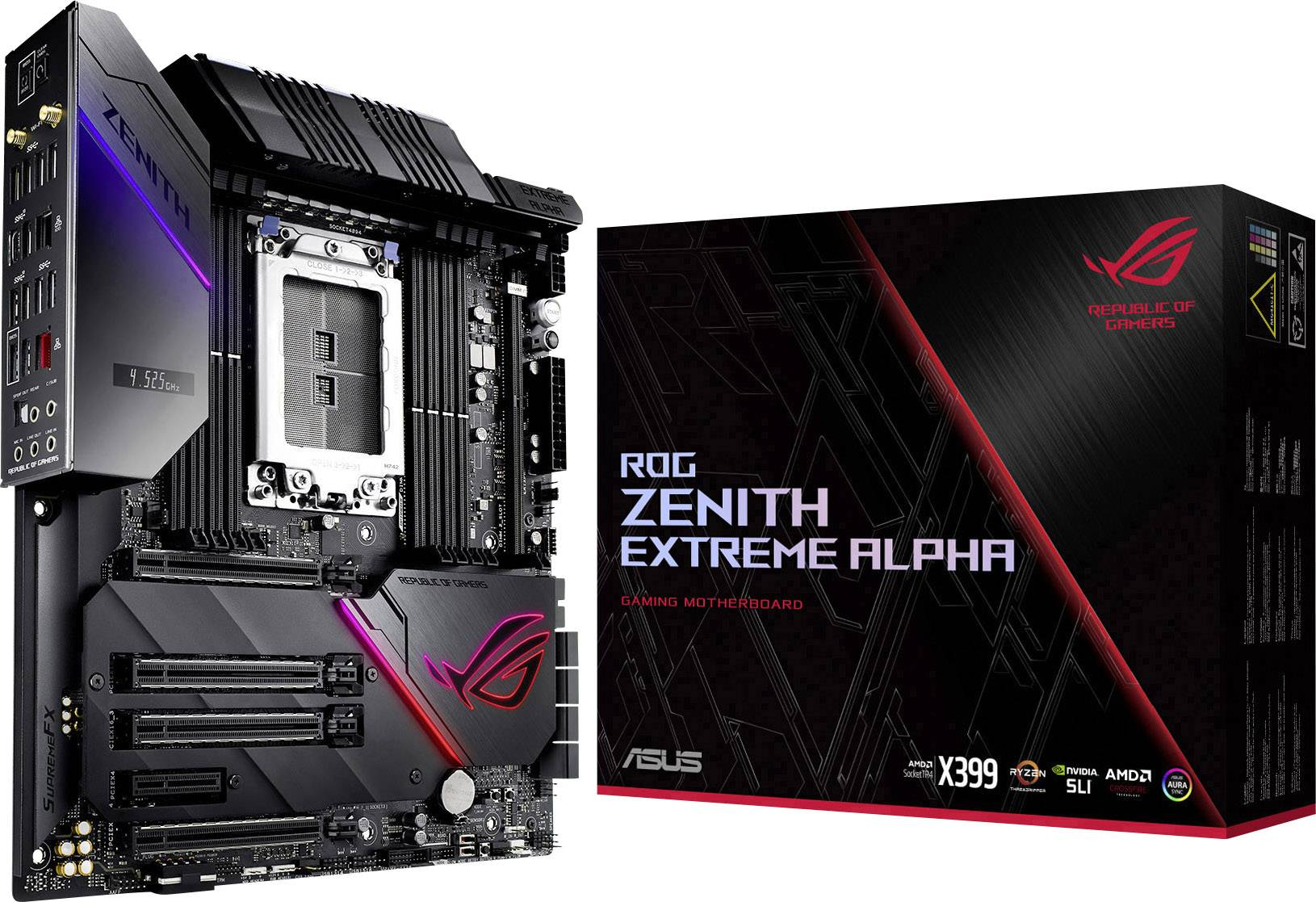 Asus Rog Zenith Extreme Alpha Motherboard Pc Base Amd Tr4 Form Factor E Atx Motherboard Chipset Amd X399 Conrad Com