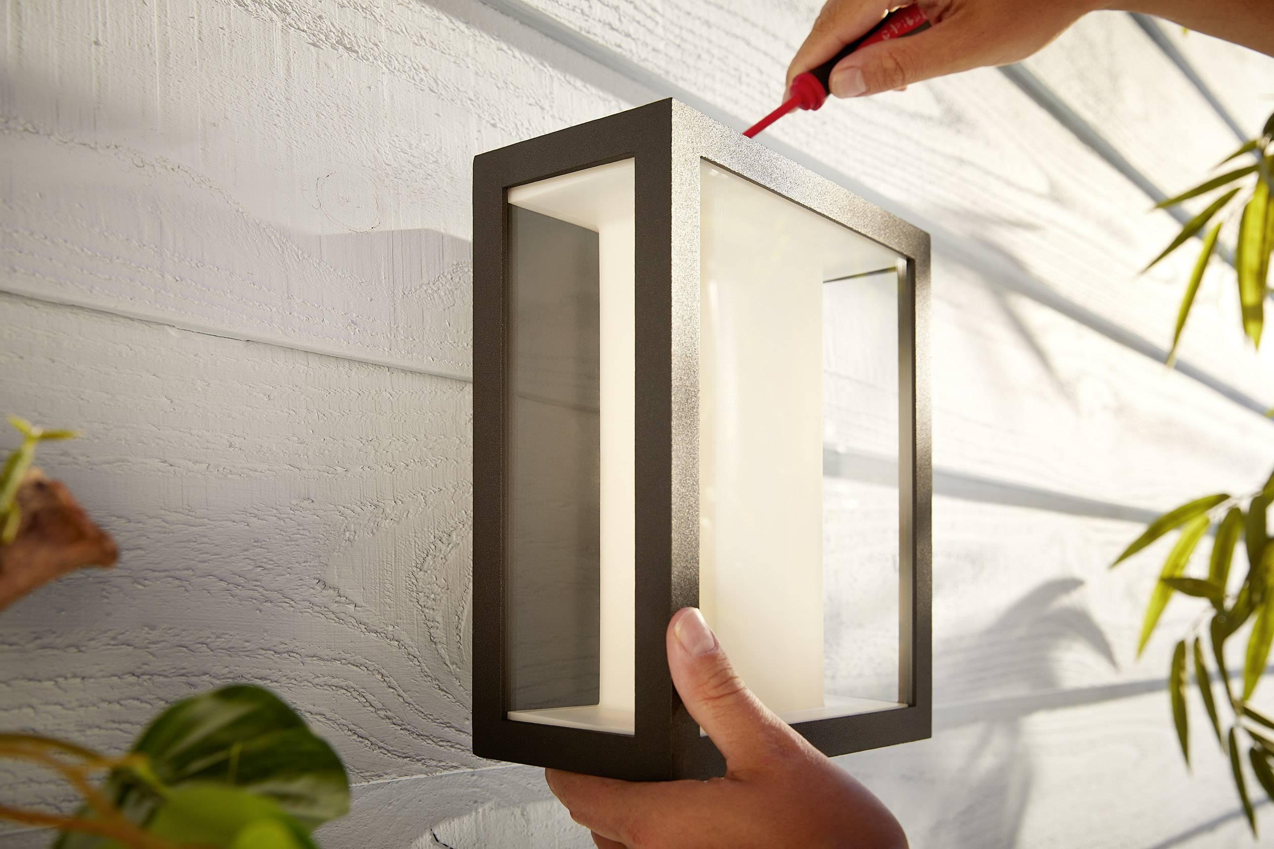 Philips lighting hue led outdoor wall light impress eec led a
