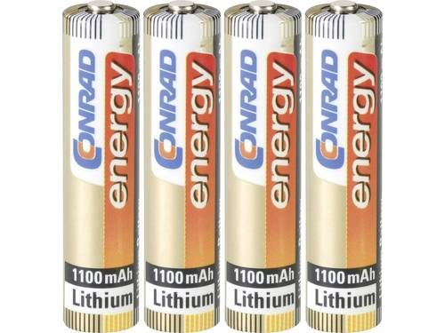 AAA batterij (potlood) Conrad energy Extreme Power FR03 Lithium 1.5 V 4 stuks