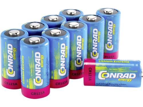 Conrad energy CR123 CR123A Fotobatterij Lithium 1400 mAh 3 V 10 stuk(s)