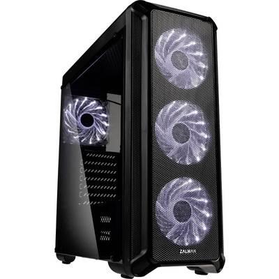 Image of Zalman I3 Midi tower PC casing Black 4 built-in LED fans, Window
