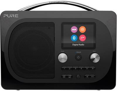Image of Pure Evoke H4 Prestige DAB+ Table top radio AUX, Bluetooth, FM rechargeable Black