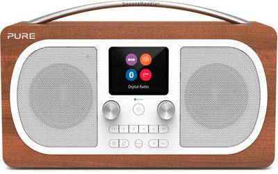 Image of Pure Evoke H6 DAB+ Table top radio AUX, Bluetooth, FM rechargeable Walnut